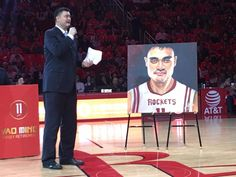 The Houston Rockets retired Yao Ming's number on 2/3/2017.