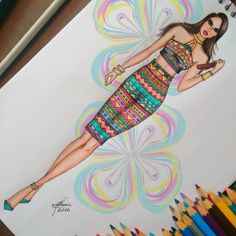 Try Drawing this one and send us a pic. The one who makes the best, gets a chance to be a collaborator in one of my boards. Dress Design Drawing, Dress Design Sketches, Fashion Design Sketchbook, Fashion Design Portfolio, Fashion Design Drawings, Fashion Sketches, Dress Illustration, Fashion Illustration Dresses, Fashion Illustrations