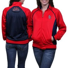 St. Louis Cardinals Ladies Medalist Full Zip Jacket - Red/Navy Blue