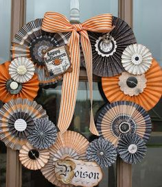 Paper Fairy: Hopping Just for the Fun Of It - Halloween Rosette Wreath