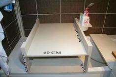 TABLE A LANGER pour baignoire Diy Bathtub, Diy Pallet Bed, Diy Bebe, Kids Daycare, Classroom Design, Diy For Kids, Kids Room, Sweet Home, Ikea