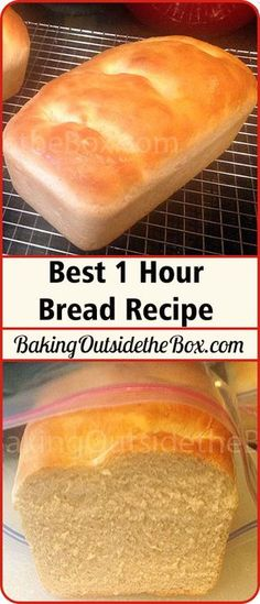 Perfect bread start to finish in one hour. This is my … Best 1 Hour Bread Recipe. Perfect bread start to finish in one hour. This is my favorite bread recipe. Bread Machine Recipes, Easy Bread Recipes, Cooking Recipes, Simple Bread Recipe, Cooking Games, Cooking Tips, Breakfast Bread Recipes, Kitchen Recipes, Cooking Classes