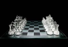 Unique Luxury Gifts | Luxury-Small-Glass-Chess-Set-Clear-and-Frosted-Pieces-Unique-Gift ...