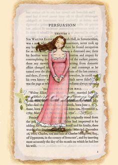 Persuasion - Anne Elliot - 5 x 7 - Jane Austen