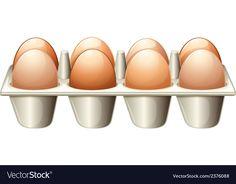 A tray with eggs vector image on VectorStock Egg Vector, Vector Free, Adobe Illustrator, Tray, Eggs, Image, Egg, Trays, Board