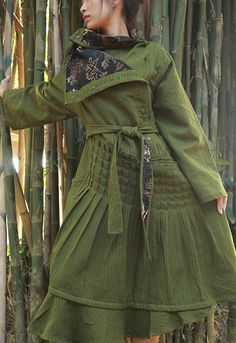 Winter dress 424 with buttons linen/ 2 layers fit by cocoricooo: oh, if only I could sew...