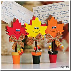 Image detail for -Fun Kids Fall Crafts - Fall Leaves Recipe Holder Craft Kit Fall Crafts For Adults, Crafts For Seniors, Fall Crafts For Kids, Thanksgiving Crafts, Holiday Crafts, Preschool Crafts, Kids Crafts, Diy And Crafts, Craft Projects