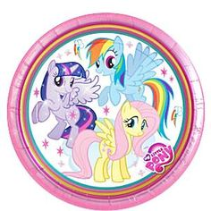 My Little Pony party plates. Set of 8 plates. Size 23cm. #MyLittlePony #MyLittlePonyParty #MyLittlePonyTableware #MyLittlePonyPartySupplies