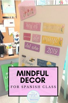 If you're still heading back in the classroom this year, then you still need classroom decor items! This bundle includes a calendar and word wall cards for high school Spanish classes, including Spanish vocabulary terms. These decor pieces come with easy-to-read lettering and beautiful designs to accompany the themes. They'll make a great addition to your classroom walls, and if you're teaching via distance learning, you can still display them via camera! Click through to grab this mini… Spanish Teacher, Spanish Classroom, Teaching Spanish, Spanish Vocabulary, Classroom Walls, Classroom Decor, Study Spanish, Spanish 1, Spanish Lessons