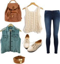 """college style"" by lupithanaya on Polyvore"