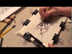 """Вышивка лентами """"Веточка вербы"""" - Ярмарка Мастеров - ручная работа, handmade"""