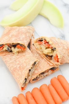 Hummus + Roasted Vegetable Wrap Recipe   Make Ahead Healthy, Vegan Lunches   Luci's Morsels :: LA Healthy Food Blog