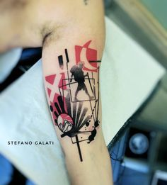 Abstract tattoo by Stefano Galati