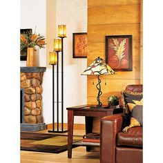 Light up my life lighting i like on pinterest bronze for Sedona collection tiffany style floor lamp 22081