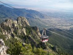 Albuquerque, New Mexico - Sandia Peak Tramway. The world's longest aerial tram ride takes visitors miles to the peak of the Sandia Mountains. New Mexico Usa, New Mexico Tourism, Travel New Mexico, New Mexico Style, Santa Fe, Places To Travel, Places To See, New Mexican, Land Of Enchantment