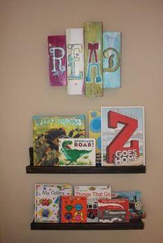 """Onesie Twosie: DIY: Wooden """"Read"""" Sign"""