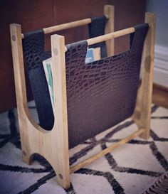Hello my fellow crafters! Today I wanted to share with you this great tutorial that combines wood and leather crafting.  Laura Gummerman, from a Beautiful Mess, will teach you How to Create Your Own Magazine Holder.  http://www.abeautifulmess.com/2014/04/wood-leather-magazine-holder-diy.html  Fantastic opportunity to improve your skillset in other disciplines!  #love #diy #lovediy #craft #leather #leathercraft #wood #woodcraft #handmade #howto #tutorial #magazineholder…