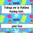 This a 4-page morning work routine packet that you can do with your students at the start of each day. The morning work includes English and Spanis...