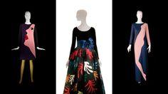YSL retrospective! My god I want the middle dress