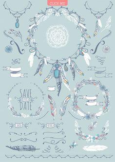 Boho chic wedding & blog collection - Illustrations - 3