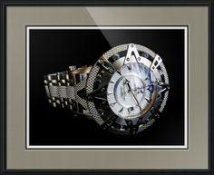 "XOSKELETON Superlative Star Gen. 2.5 Watch // Paper: enhanced matte; Glazing: acrylic; Moulding: black, contemporary black; Top Mat: black/gray, dover gray; Middle Mat: black/gray, night; Bottom Mat: white/cream, canvas // Price starts at $134 (Petite: 19.5"" x 21.5""). // Customize at http://www.imagekind.com/XOSKELETON-Superlative-Star-Gen--XO_art?IMID=5b816a22-62fa-4cb6-8c8f-52442adca7f9"