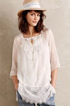 at anthropologie Mantilla Silk Tunic Bohemian Mode, Boho Chic, Casual Chic, Boho Fashion, Spring Fashion, Silk Tunic, Dress Me Up, What To Wear, Cute Outfits