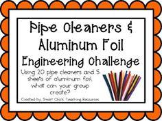 Pipe Cleaners & Aluminum Foil - STEM Activity!