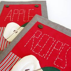 Items similar to Apple recipe book cover for any book on Etsy Recipe Book Covers, Apple My, Apple Recipes, Diy Kitchen, Nice Things, A4, Kids Rugs, Diy Crafts, Books