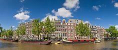 Fotobehang: Amsterdamse Huizen