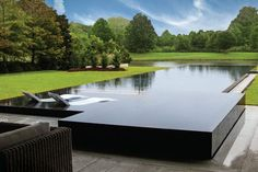 You have a lovely pool, so let's help you maintain it. The bigger The pool is, the bigger the catch basin should be. If you would like such a pool in your backyard, you should be prepared to devote more money on it. Swimming Pool House, Swiming Pool, Luxury Swimming Pools, Luxury Pools, Dream Pools, Swimming Pool Architecture, Inground Pool Designs, Swimming Pool Designs, Backyard Designs