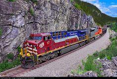 RailPictures.Net Photo: QCM 17 AMMC 9003 Cartier Railway GE AC4400CW at Côte-Nord Region, Quebec, Canada by Kevin Burkholder