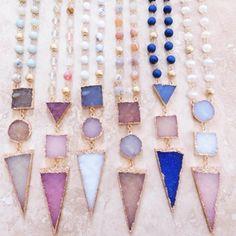 Jewelry - •Druzy triangle pendant necklace•