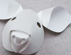 """Check out new work on my @Behance portfolio: """"Curved Fold Origami - Pig"""" http://be.net/gallery/40191693/Curved-Fold-Origami-Pig"""