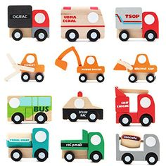 LOVELY BITON 12 Pcs Wooden Car Toys Mini Car Model Vehicle Set Classic Construction Team for Children Kids(Color vary). – Thomas and Friends Toys