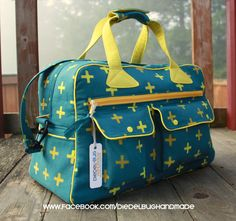 (Obviously I don't expect anyone to make me a duffel bag, but HOLY COW with the Alison Glass Handcrafted colors!)