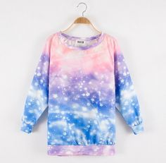 Color:galaxy,  Size:free size,  Length:63 cm,  Bust:108 cm,  Sleeve length:59 cm,  Fabric material:cotton,  more style,please visit:  http://fashionkawaii.storenvy.com/