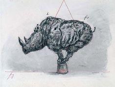 """Rhino"""", técnica mixta, 1955"""