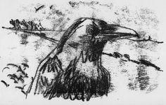 Crow II, Trace monoprint, Peter Gander 2011 no size listed. Monoprint Artists, Artist Portfolio, Aboriginal Art, Natural Forms, Graphic Design Illustration, Cool Art, Fine Art Prints, Digital Art, Artwork