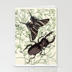 Beetle love Stationery Cards by anipani - $12.00