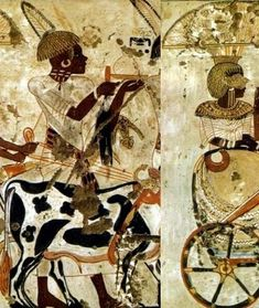 Murals from the Tomb of Huy [1336-1327 BC]; Kemet Reliefs; Black Egypt; @KemetVirtual