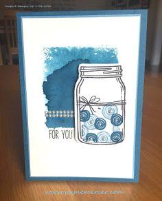 Jar of Love by Jayne Mercer - Cards and Paper Crafts at Splitcoaststampers Love Jar, Love Stamps, Stampin Up, Card Making, Paper Crafts, Scrapbook, Flowers, Artist, Cards