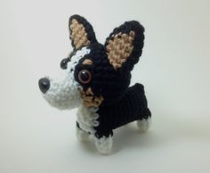 Welsh Corgi Tri Color Crochet Dog Handmade Amigurumi Dog Stuffed Animal / Made to Order