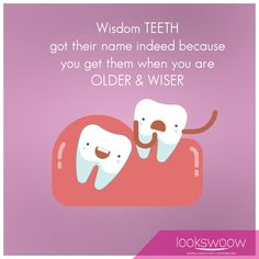 Wisdom teeth got their name indeed because you get them when you're older and wiser. :) Unfortunately, you can get symptoms like red or swollen gum, bleeding, jaw pain or bad breath but fortunately, we can help you get rid of these symptoms if they happen! For appointments kindly contact us on: +97144487016