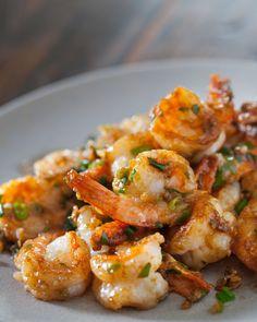 Garlic Ginger Shrimp Stir Fry from Steamy Kitchen