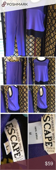 VINTAGE HOWARD WOLF PURPLE TRACK SUIT In excellent used condition. No rips or stains. Great to go on walks in. Very comfortable! Measurements: (top size large) 30in long, 36in bust and 5in sleeve width. (Pants size medium) 44in long, 32in stretchable waist and 8in pant leg opening. Please feel free to ask any unanswered questions!!!! 💄 Vintage Tops