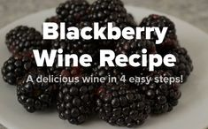 Discover our favorite homemade blackberry wine recipe and exactly how to make it. Learn the 4 simple steps to the best homemade wine in the neighborhood! Homemade Muscadine Wine Recipe, Homemade Blackberry Wine Recipe, Homemade Wine Recipes, Blackberry Recipes, Beer Recipes, Brewing Recipes, Canning Recipes, Drink Recipes, Recipies