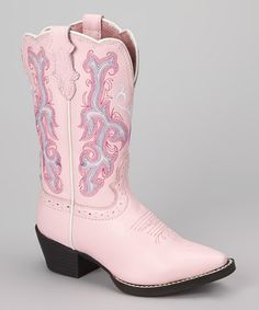 Take a look at this Pink Deercrow Cowboy Boot - Kids by Justin Boots on #zulily today! $47.99