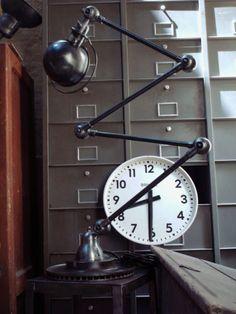 Beautiful Jielde Lamp 1950 4 Arms Graphite Steel Metal French ...