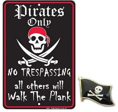 Jolly Roger Pirate with Red Bandanna License Plate FindingKing