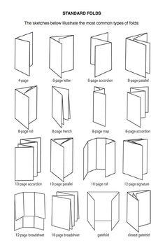 Image result for brochure fold names